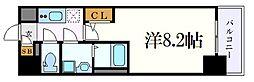 名古屋市営東山線 新栄町駅 徒歩7分の賃貸マンション 2階1Kの間取り