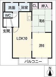 ロイヤルステージ阿倉川A[2階]の間取り