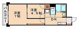 オリオン1[4階]の間取り