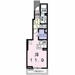 シャングリラII[1階]の間取り