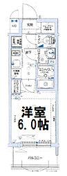 グランカリテ大阪城イースト 5階1Kの間取り