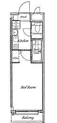 サンバレー常盤台[4階]の間取り