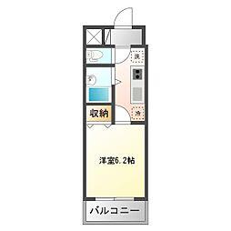 ドミール上福岡[2階]の間取り