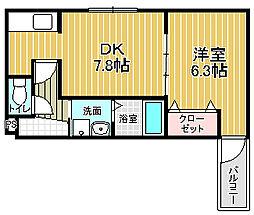 フジパレス諏訪ノ森Ⅲ番館[2階]の間取り