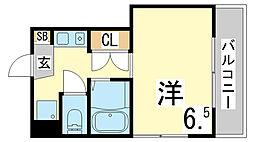 兵庫県神戸市須磨区飛松町3丁目の賃貸マンションの間取り