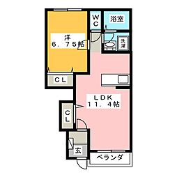 UN REVE[1階]の間取り