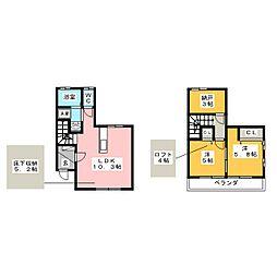 [テラスハウス] 愛知県岩倉市神野町又市 の賃貸【/】の間取り