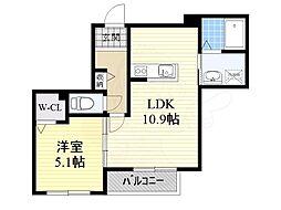 阪急京都本線 南茨木駅 徒歩14分の賃貸マンション 1階1LDKの間取り