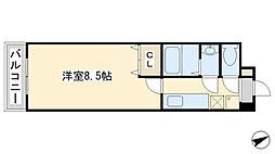 プリンセス香春口[4階]の間取り