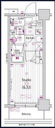 JR京浜東北・根岸線 横浜駅 徒歩15分の賃貸マンション 8階1Kの間取り