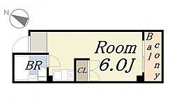 サンドーム大森[5階]の間取り