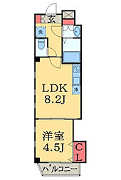シャリマー ディス[4階]の間取り