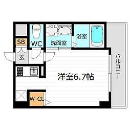 JR大阪環状線 京橋駅 徒歩6分の賃貸マンション 4階1Kの間取り