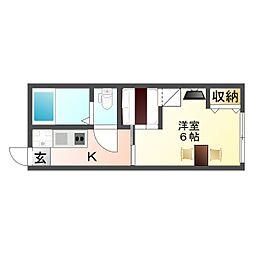 大阪府大阪市生野区小路3丁目の賃貸アパートの間取り