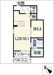 プリート8[1階]の間取り