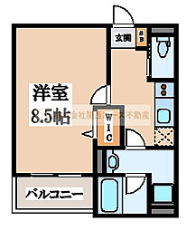 eva北花田(エヴァキタハナダ)[2階]の間取り