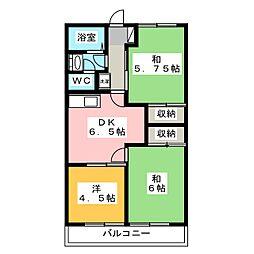 飯尾第2メゾン[1階]の間取り