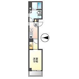 名古屋市営桜通線 桜山駅 徒歩1分の賃貸マンション 7階1Kの間取り