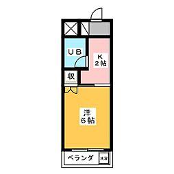 メゾンロイヤルエース[4階]の間取り