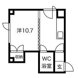 大木ビル[3階]の間取り