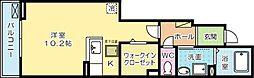 福岡県北九州市小倉南区沼緑町2丁目の賃貸アパートの間取り