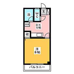 福本ハイツ[2階]の間取り