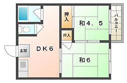 タチバナハイツ[2階]の間取り