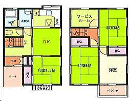 [一戸建] 神奈川県横須賀市岩戸3丁目 の賃貸【/】の間取り