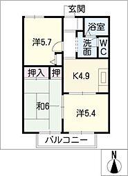 サウスアベニュー平井[2階]の間取り