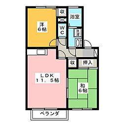 メゾン・ド・コート[1階]の間取り