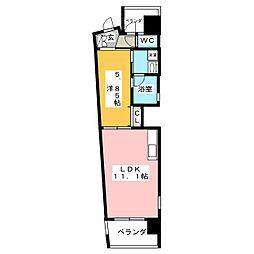 SLANT WALLS[2階]の間取り