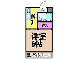 愛媛県松山市枝松1丁目の賃貸アパートの間取り