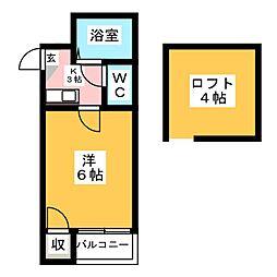 Pure Court高宮[2階]の間取り