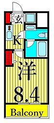 東武伊勢崎線 浅草駅 徒歩8分の賃貸マンション 6階1Kの間取り