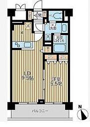 エミリブ鷺ノ宮[3階]の間取り