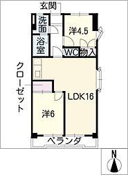 第1富士[2階]の間取り