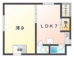東口マンション[1階]の間取り