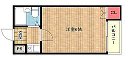 コーポ南加賀屋[4階]の間取り