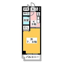 びい6植田[5階]の間取り