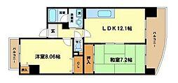 パークビュー京町堀[6階]の間取り