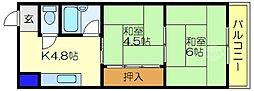 メゾンドール布施[3階]の間取り