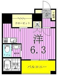 b´CASA三郷中央(ビーカーサミサトチュウオウ)[403号室]の間取り