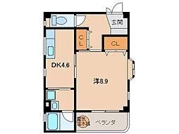 レスペート西庄5[3階]の間取り