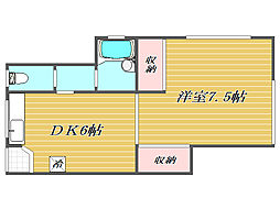 アパートメント欅[1階]の間取り
