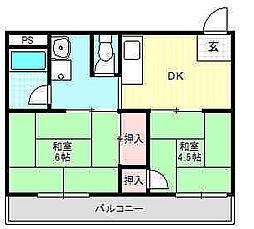 廻戸マンション[3階]の間取り