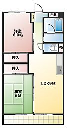 アマノマンション[6階]の間取り