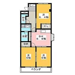 コンフォースMK[1階]の間取り