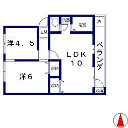 円山マンション[3階]の間取り