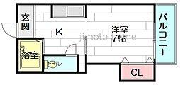 東栄物産ビル17[4階]の間取り