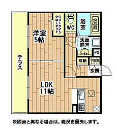 福岡県北九州市八幡東区諏訪2丁目の賃貸アパートの間取り